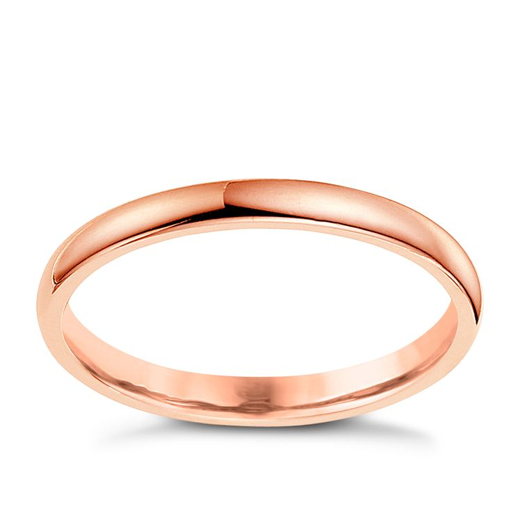 18ct rose gold extra heavy 2mm wedding ring - Product number 4790642