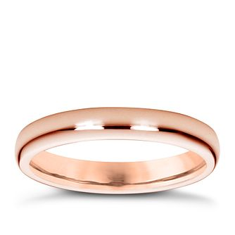 18ct rose gold super heavy 3mm court ring - Product number 4794842