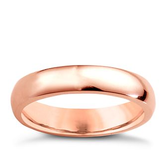 18ct rose gold super heavy 4mm court ring - Product number 4795105