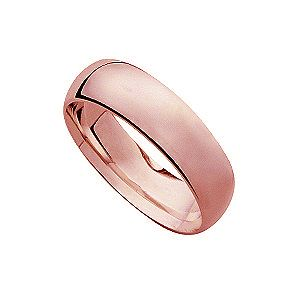 18ct rose gold 8mm super heavy weight court ring - Product number 4795989