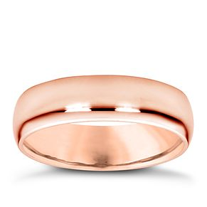 18ct rose gold super heavy 5mm court ring - Product number 4797167