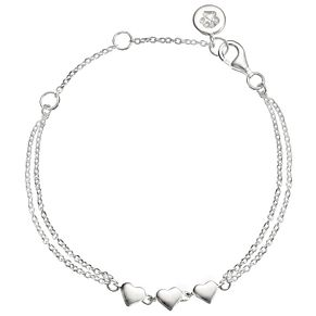 "Molly Brown Sterling Silver 6.5"" Heart Bracelet - Product number 4797515"