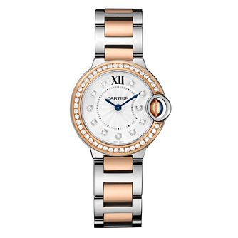 Cartier Ballon Blue Ladies' Two Colour Bracelet Watch - Product number 4797566