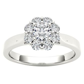 The Diamond Story 18ct White Gold Flower Burst Ring - Product number 4801636