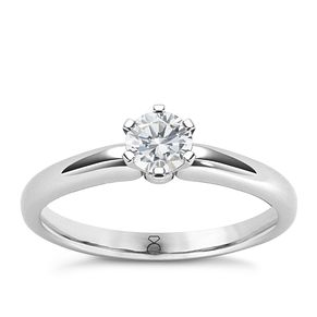 The Diamond Story 18ct White Gold 1/3ct Diamond Ring - Product number 4801768