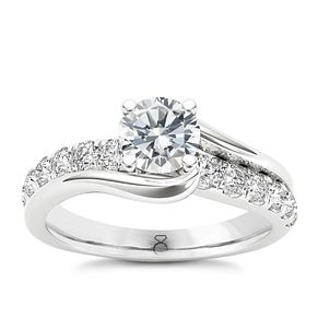 The Diamond Story 18ct White Gold 1ct Diamond Crossover Ring - Product number 4802497
