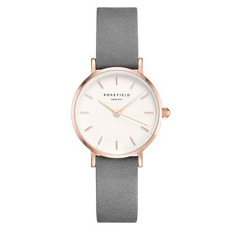 Rosefield Ladies' White Dial Grey Leather Strap Watch - Product number 4804449