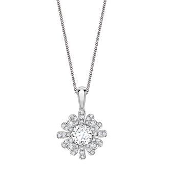 Jan Maarten Asscher 18ct White Gold 1.5ct Diamond Pendant - Product number 4805216