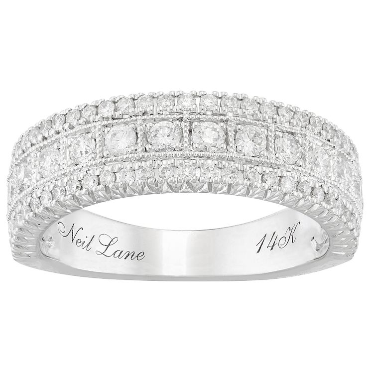 Neil Lane 14ct White Gold 0.69ct Diamond 3 Row Band - Product number 4806557