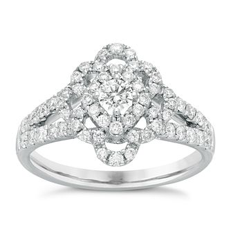 Neil Lane Designs 14ct White Gold 0.83ct Diamond Ring - Product number 4809416