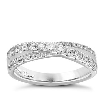 Neil Lane Designs 14ct White Gold 0.58ct Diamond Band - Product number 4809548