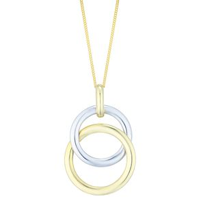 9ct Yellow & White Gold Double Circle Pendant - Product number 4811593
