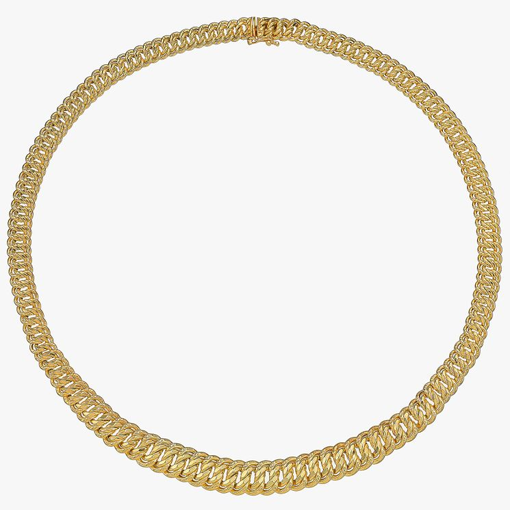9ct Yellow Gold Fancy Link Grad Collar - Product number 4812549