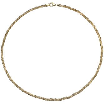 9ct Yellow Gold Sparkle Twist Chain - Product number 4813146