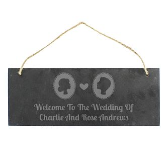 Engraved Cameo Slate Door Sign - Product number 4817044