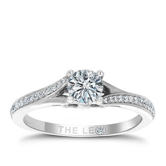 Leo Diamond 18ct White Gold 0.63ct Diamond Ring - Product number 4821939