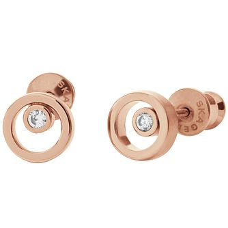 Skagen Rose Gold Tone Stud Earrings - Product number 4830741