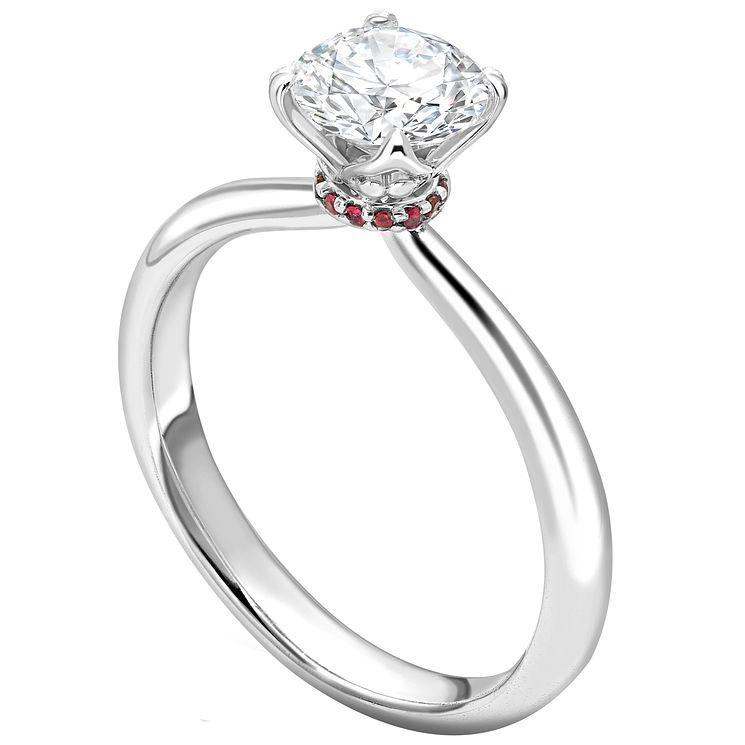 Jan Maarten Asscher 18ct White Gold 0.33ct Diamond Ruby Ring - Product number 4831284