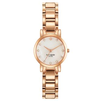 Kate Spade Ladies' Rose Gold Tone Stone Set Bracelet Watch - Product number 4831578