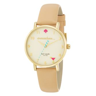 Kate Spade Metro Ladies' Gold Tone Strap Watch - Product number 4832531