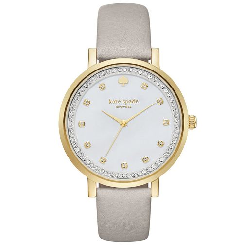 Kate Spade Montgomery Gold Tone Stone Set Strap Watch - Product number 4833074