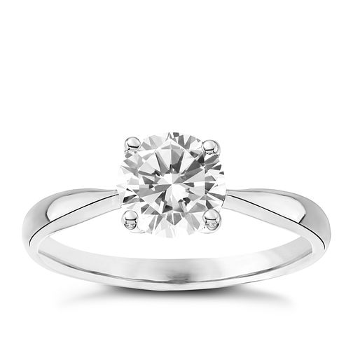 9ct White Gold Cubic Zirconia Solitaire Ring - Product number 4833317