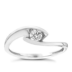9ct White Gold Cubic Zirconia Ring - Product number 4833848