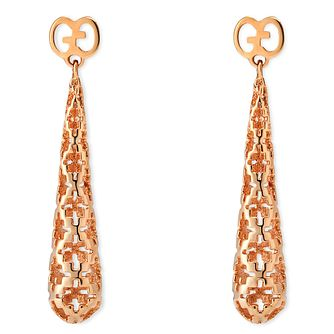 Gucci 18ct  Rose Gold Diamond Drop Earring - Product number 4834119
