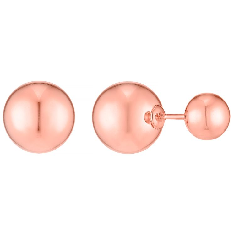 9ct Rose Gold Double Earring Stud Earrings - Product number 4834267
