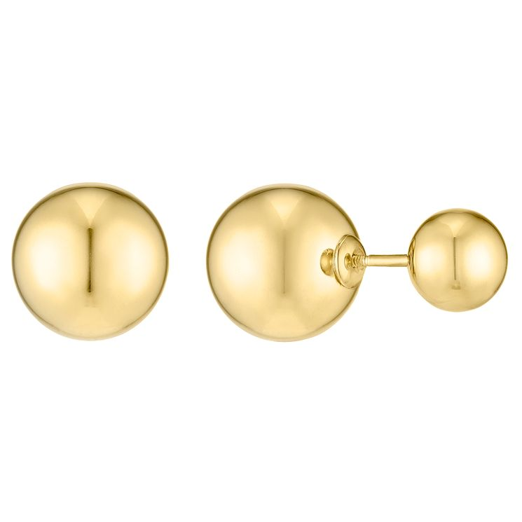 9ct Yellow Gold Double Earring Stud Earrings - Product number 4834275