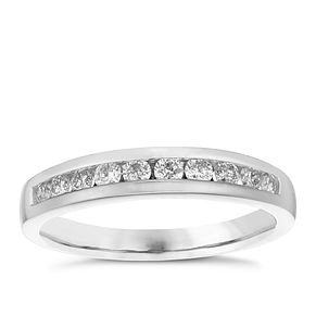 Platinum 1/3ct Diamond 10 Stone Eternity Ring - Product number 4835026