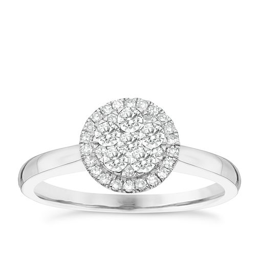Platinum 0.33ct Diamond Cluster Ring - Product number 4836804