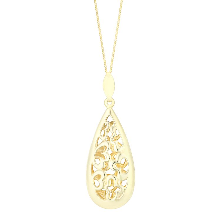 9ct Yellow Gold Curve Cutout Pendant - Product number 4836995