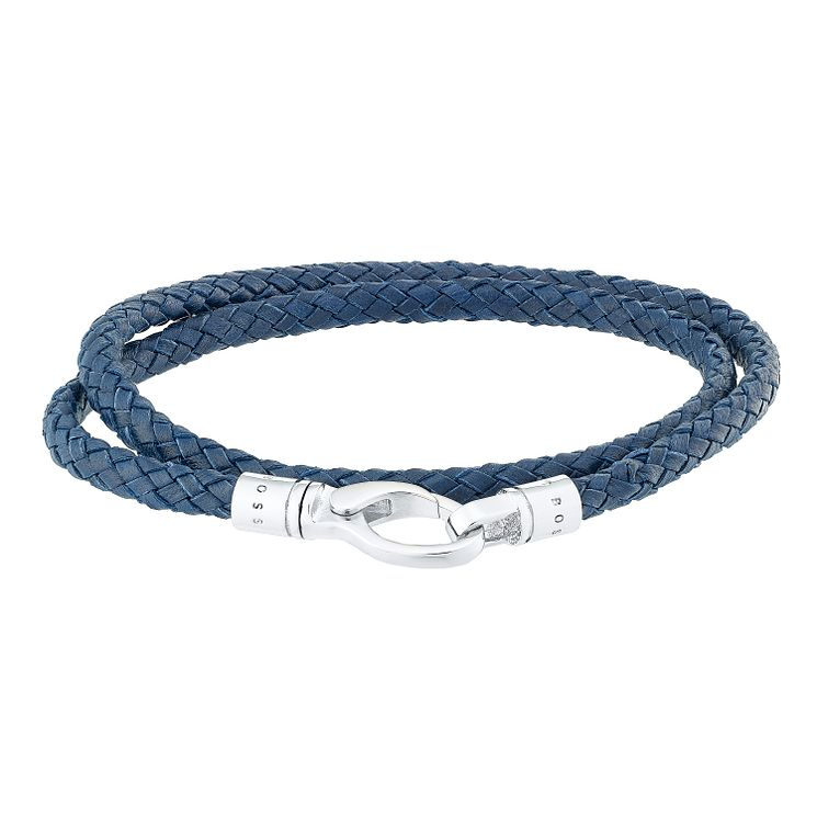 Hugo Boss Men's Blue Double Weave Bracelet - Product number 4843371