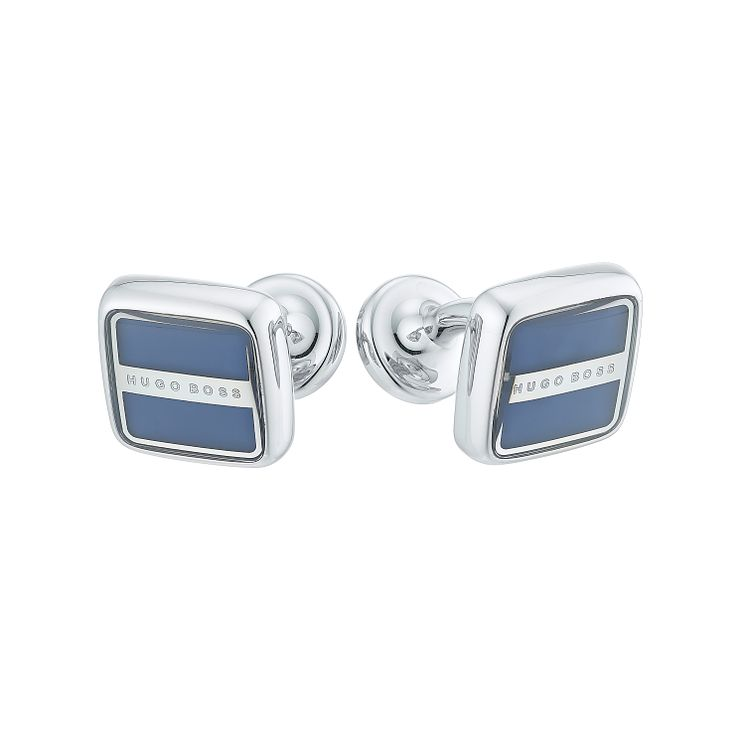 Hugo Boss Robert men's steel square blue cufflinks - Product number 4843614