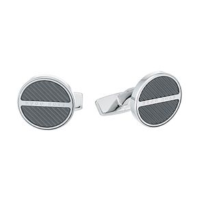 Hugo Boss Men's Brass Black Cufflinks - Product number 4843819