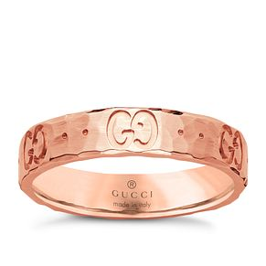 Gucci 18ct  Rose Gold icon ring Size O - Product number 4845625