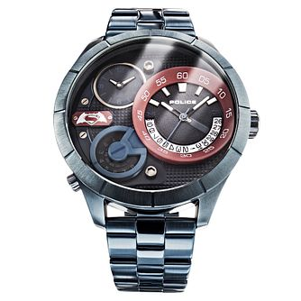 Police Men's Superman Multi Dial Iron-Plated Bracelet Watch - Product number 4857003
