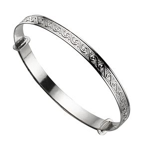 Child's Silver Scroll Expander Bangle - Product number 4864158
