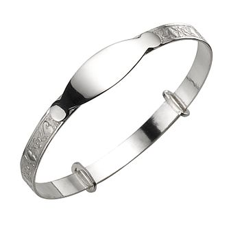 Child's Silver Heart and Flower Expander Bangle - Product number 4864336