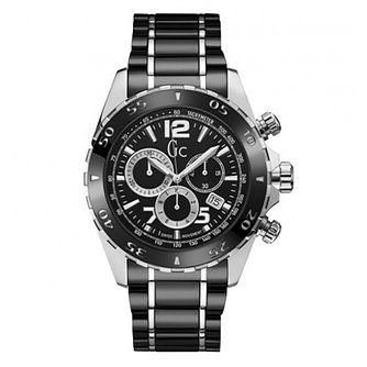 Gc SportRacer Men's Stainless Steel Black Bracelet Watch - Product number 4874544