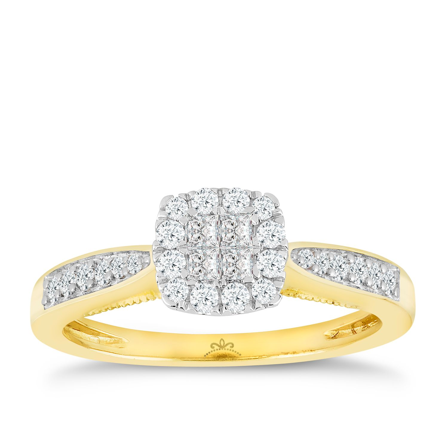 image rings engagement eternity ring cluster diamond carat gold