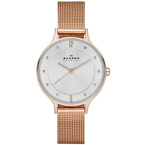 Skagen Anita Ladies' Rose Gold Tone Bracelet Watch - Product number 4894529