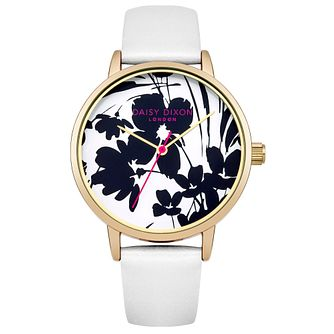 Daisy Dixon Jessica Ladies' White Leather Strap Watch - Product number 4896742