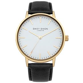 Daisy Dixon Alexa Ladies' Black Leather Strap Watch - Product number 4896912