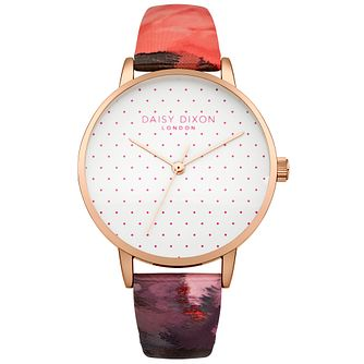 Daisy Dixon Suki Ladies' Multi Pink Base Leather Strap Watch - Product number 4897013