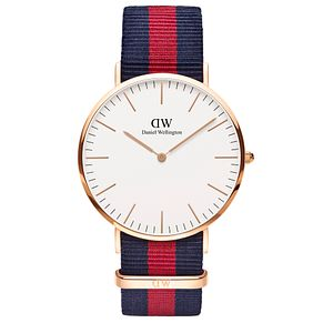 Daniel Wellington Oxford Men's Blue & Red NATO Strap Watch - Product number 4899318