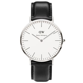 Daniel Wellington Sheffield Men's Black Leather Strap Watch - Product number 4899482