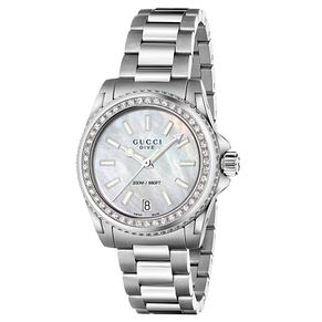 Gucci Dive Ladies' Diamond Stainless Steel Bracelet Watch - Product number 4899547