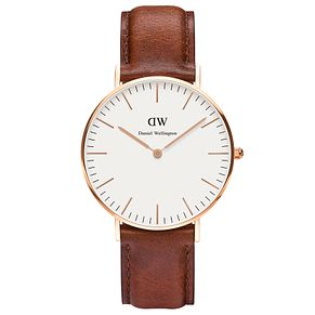 Daniel Wellington St Mawes Ladies' Brown Leather Strap Watch - Product number 4899679